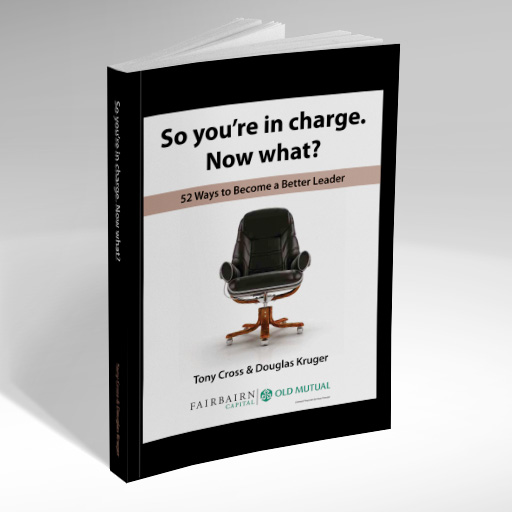 Douglas Kruger - So you're in charge. Now what?