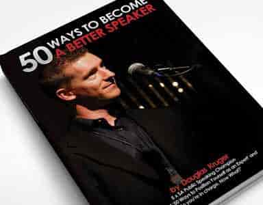 50 Ways to become a better speaker by Douglas Kruger